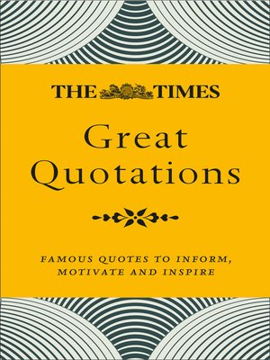 cover image of The Times Great Quotations